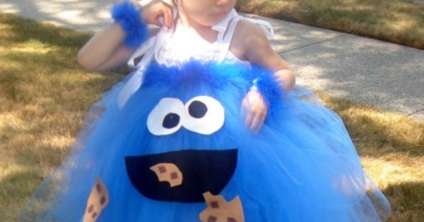 Cookie Monster Tutu Costume Idea
