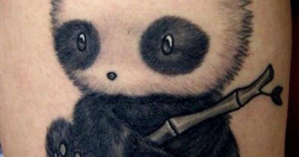 cute tattoos for women | Cute panda tattoo on leg - Tattoo