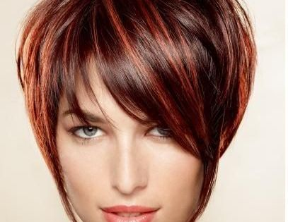 short brown hair with blonde and auburn highlights ...