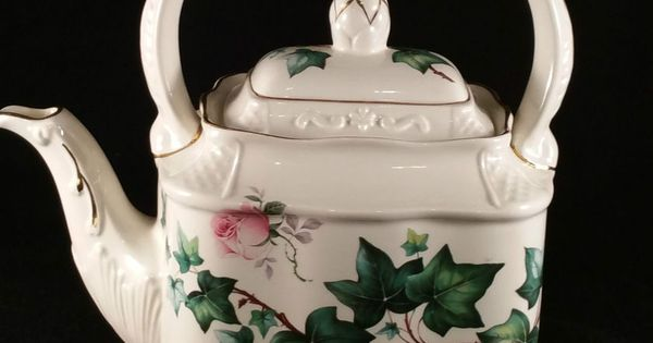 Crown Dorset Staffordshire Bone China England Teapot ...