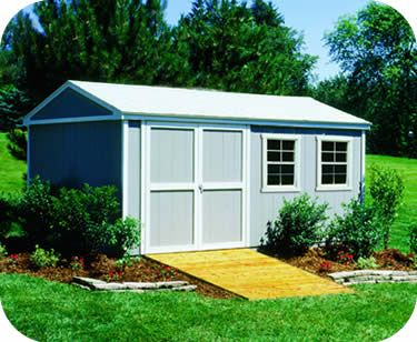 Handy Home Somerset 10x16 Wood Storage Shed Kit 18505 2 Wooden Storage Sheds Wood Storage Sheds Storage Building Kits