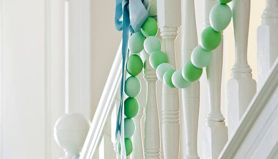 Easter ideas! an egg garland