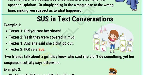 Sus Meaning What Does Sus Mean And Stand For 7esl Learn English Words Learn English Vocabulary English Vocabulary