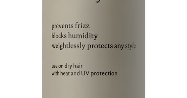 No Frizz Humidity Shield weightlessly blocks 100% humidity to prevent and correct