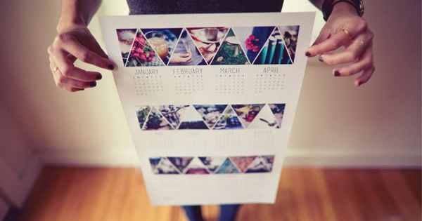 photo layout, yearly calendar