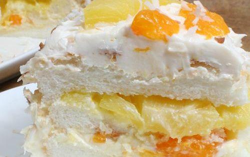 Ambrosia Cake Recipe - 1 cup pineapple juice 2 eggs - 1/2