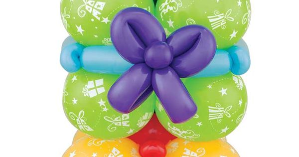 A tower of gifts for the birthday boy or girl! This balloon