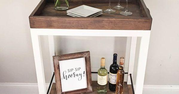 Diy bar cart para el hogar madera y ideas para - Ikea planos faciles ...