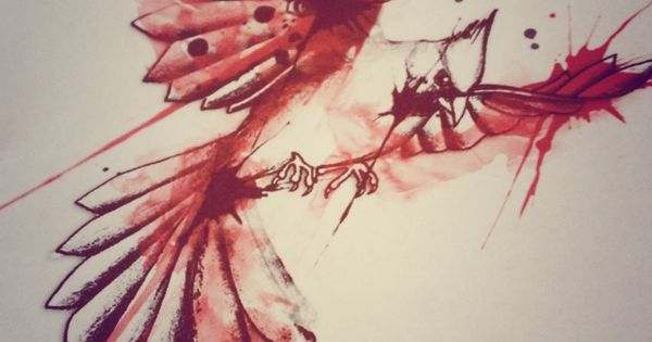 Cardinal Bird Watercolor Tattoo Design  Designs Of Late