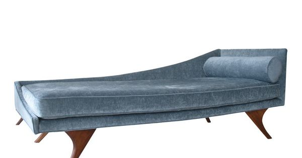 Mid century modern chaise lounge chaise lounges for Art nouveau chaise lounge