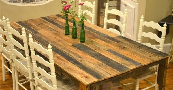 Do It Yourself Furniture Ideas: Pallet Kitchen Table For Your