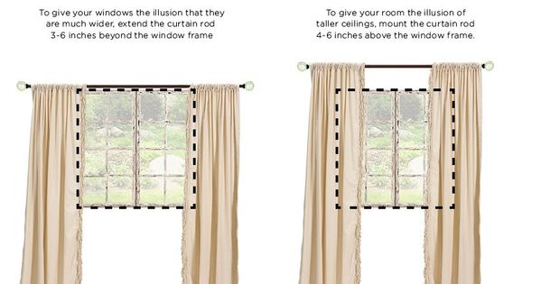 How to Hang Drapes | Curtains, Rule Of Thumb and Tips