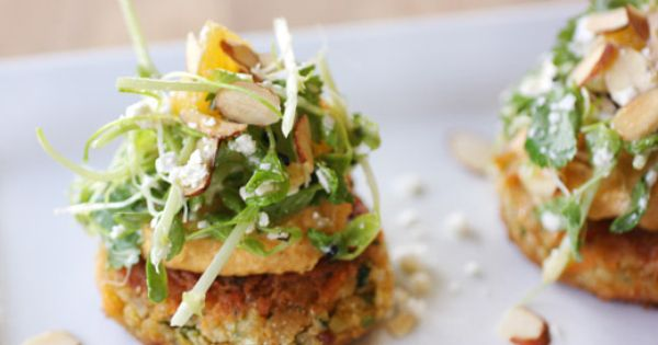 Carrot Pancakes with Hummus and Feta Salad   Lisa Is Cooking   Food ...