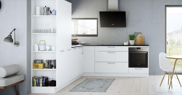 Een harmonische uitstraling tussen keuken en woonkamer kies onze milk keuken die is verzacht - Opening tussen keuken en eetkamer ...
