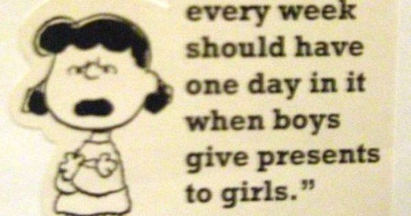 true story. I love Lucy...and Peanuts.