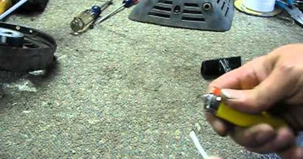 To Fix The Lawnmower Pull Cord Lawn Mower Repair Lawn Mower Rotary Lawn Mower