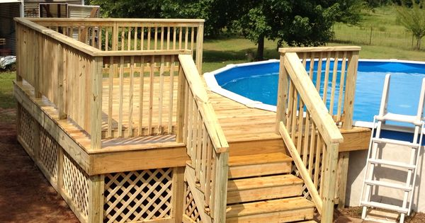 12x16 Deck On Round Pool My Projects Pinterest Decks
