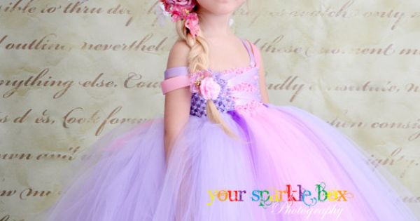 Rapunzel tutu. This will be my daughter. And neighbor kids. And dog.