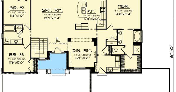 Plan 89939ah Ranch House Plan With Craftsman Detailing