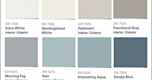 Favorite Pottery Barn Paint Colors From Sherwin Williams 2014 Collection By L