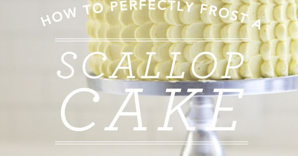 easy DIY: how to perfectly frost a cake with scallops; oh happy