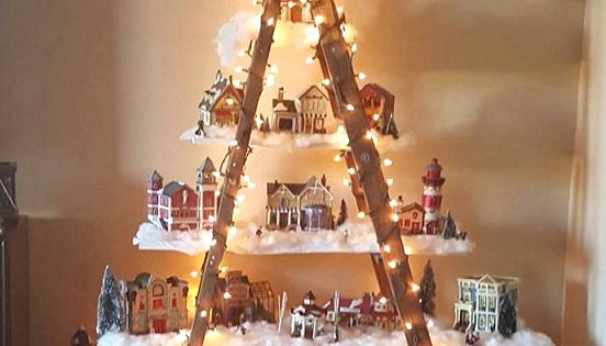 Beautiful Christmas Ladder Village Diy Christmas Ideas