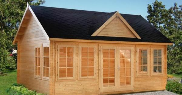 Allwood claudia cabin kit unfinished wood green spruce for Green cabin kits