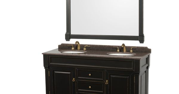 Undermount Sink For 18 Inch Vanity : ... Undermount Oval Sinks 60-inch Double Vanity with 56-inch Mirror by