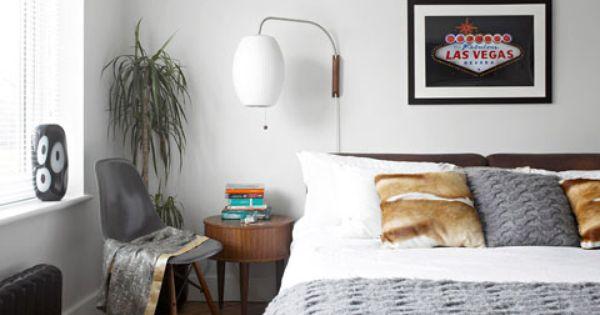 50er jaren slaapkamer, Lampen and Huis renovaties on Pinterest