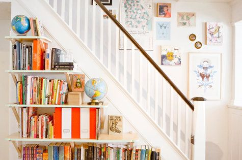 understairs bookshelves