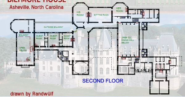 Biltmore house floor plan biltmore pinterest house for Biltmore estate floor plan
