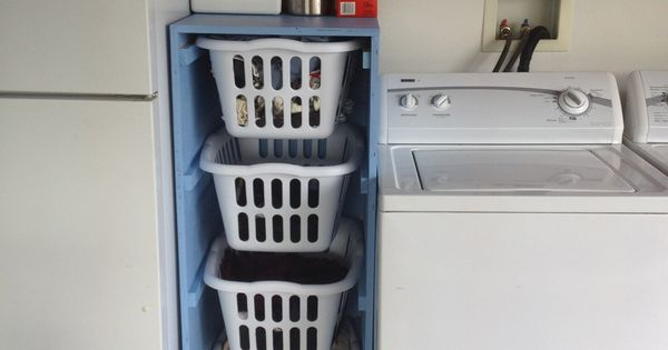 laundry sorter do it yourself home projects from ana white for the home pinterest w sche. Black Bedroom Furniture Sets. Home Design Ideas