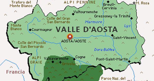 Cartina Fiumi Valle D Aosta.Valle D Aosta Con In Evidenza Il Parco Nazionale Del Massiccio Del Gran Paradiso Parchi Nazionali Geografia Ortografia