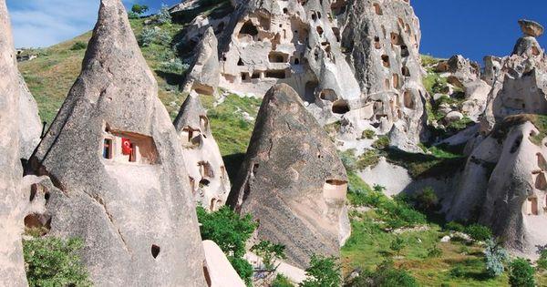 rock houses in cappadocia  turkey  photo by emi cristea
