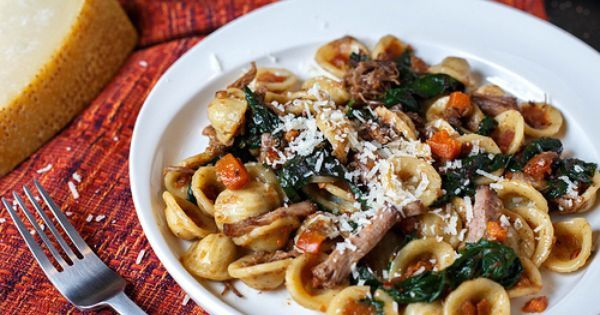 Orecchiette with Braised Short Ribs and Swiss Chard | Recipe | Braised ...