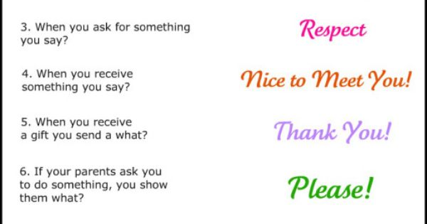 Letters M, Q, V – Manners, Quality and Values | Manners, Worksheets ...
