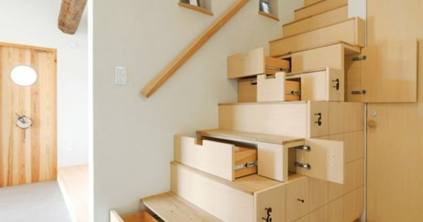 aufbewahrung platzsparende treppen holz idee home interior ideas pinterest treppe holz. Black Bedroom Furniture Sets. Home Design Ideas