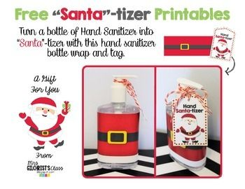 Free Santa Tizer Gift Printable Make A Fun Christmas Gift