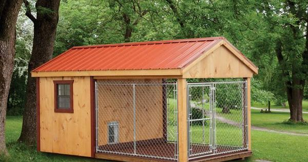 Amish Made 8'x14' Dog Kennel With 6'x8' Box, 8'x8' Run