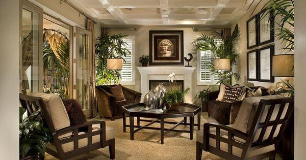 green british tropical colonial living room - Google ...