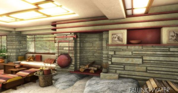Frank Lloyd Wright Falling Water House Interior Images