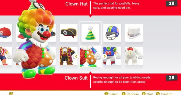 Outfits And Costumes Super Mario Odyssey Wiki Guide Ign Super Mario Mario Clown Suit