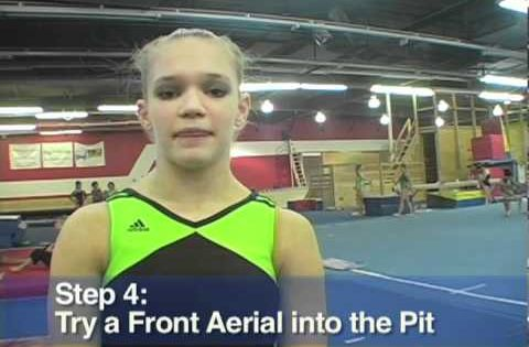 Front Aerial Trick Tip With Melissa Metcalf Youtube