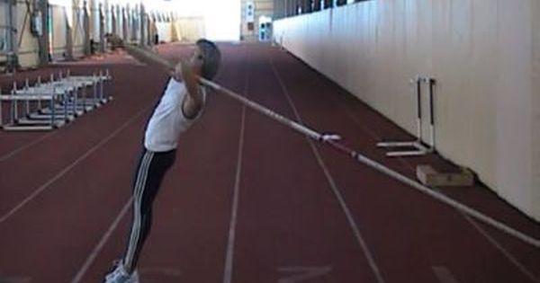 Pole Vault Turn Push Off Drill 1 Pole Vault Pole Vault Training Vaulting
