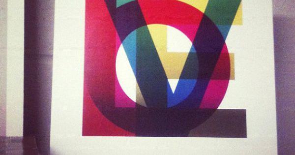 love.... LOVE Print - Archival Print - 11 x 11 via etsy