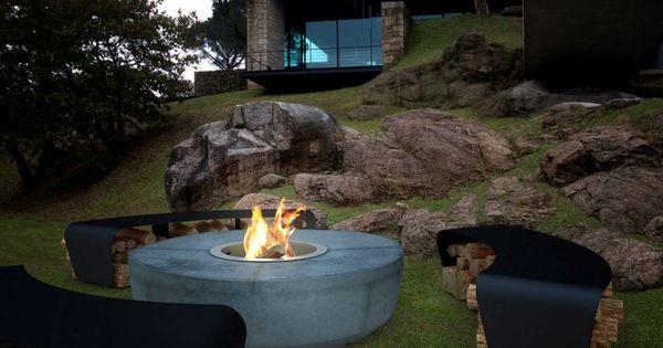 Foyer extérieur dans le jardin: 50 idées remarquables  Foyers ...
