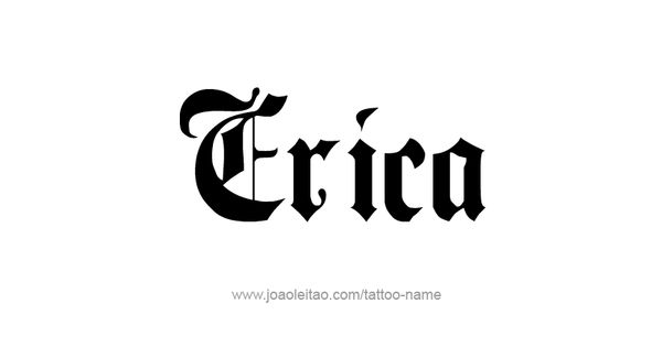 Erica Name: Design For The Name Erica - Bing Images