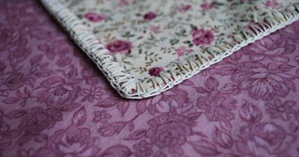 Crochet Edge Of Flannel Blanket 1st Sew W A Wing Needle