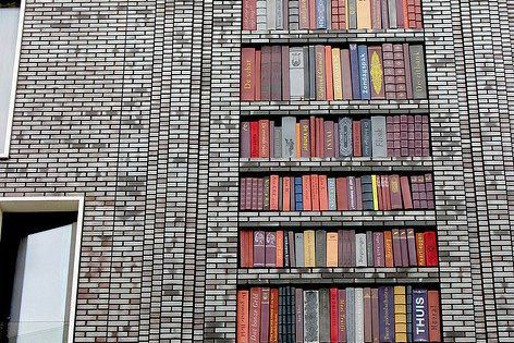 Street Art: Ceramic book building in Amsterdam. By Sanja Medic, Melle Hammer