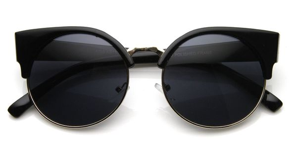 Vintage Inspired Round Circle Cat Eye Sunglasses 8785 from zeroUV